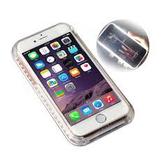 Light Up Selfie Phone Case Iphone 5c Selfie Light Phone Cases For Apple Iphone X 7 8 6 Plus 5 5s Se 5c Case Luxury Flash Selfie Light Case Iphoen Ipone 7 Coque Covers