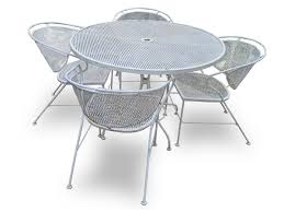 Antique White Wrought Iron Patio Furniture Home Design and