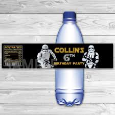 waterbottle labels star wars bottle labels star wars water label star wars
