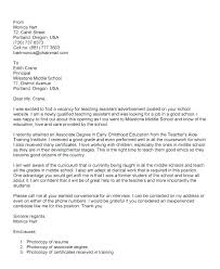 Teachers Aide Cover Letter Resume Teaching Assistant Teacher Aide