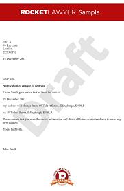 Change Of Address Letter Letter For Change Of Address Sample
