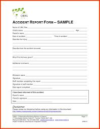 Unique Accident Incident Report Form Example Wing Scuisine