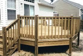wood deck railing designs diy easy fence post caps design ideas