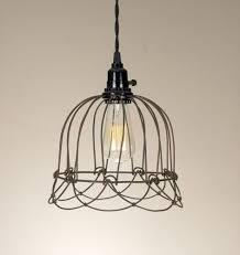 wire cage pendant light. Farmhouse Style Wire Cage Pendant Lamp Light C
