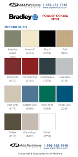Accurate Toilet Partitions Color Chart Thehauntmusic Com