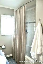 how to hang a curved shower curtain rod stunning install curved shower curtain rod curved shower