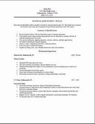 Resume Examples Objective Musiccityspiritsandcocktail Com