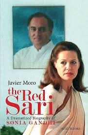 controversial book the red sari life of sonia gandhi  book cover