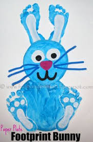 easy easter crafts for two year olds. footprint bunny art. art and craft for 1-2 year old on pinterest easy easter crafts two olds e