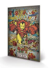 image is loading marvel comics iron man retro wooden wall art