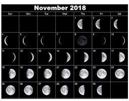 November 2018 New Moon Calendar Moon Calendar Moon Phase