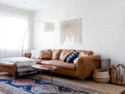 living room furniture styles. unique room bohemian style contemporary living room with white ship lap wall brown  leather sectional and macrame to furniture styles