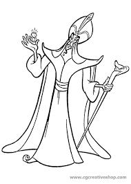 Jafar Il Cattivo Di Aladdin Disney Disegno Da Colorare