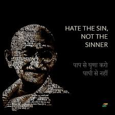 Gandhi Quotes Impressive Mahatma Gandhi Quotes In Hindi Hate The Sin Not The Sinner Art