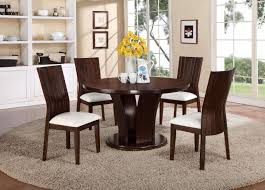 54 round dining table elegant crown mark daria 5 piece dining set with round pedestal table