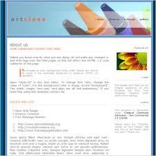 Art Class Template Free Website Templates In Css Html Js