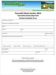 Auction Donation Form Template