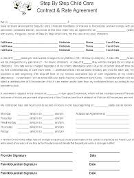 Daycare Contract Template Daycare Employment Application Template Job Child Care