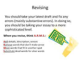the writing process types of essays the writing process the  6 revising