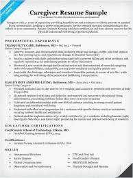 Caregiver Resume Skills 2018 Caregiver Resume Example Best Resume
