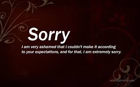Saying Sorry Quotes To A Teacher With Message For Principle Boss