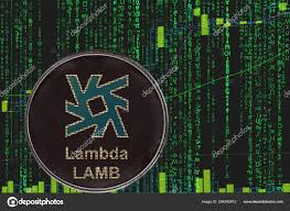 Coin Lamb Lambda Cryptocurrency On The Background Of Binary
