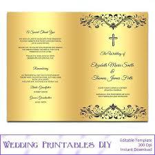 Catholic Wedding Ceremony Program Templates Wedding Ceremony Program Template Word Service Order Of Free Booklet