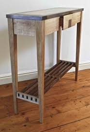 narrow console tables for narrow hall. Very Narrow Rustic DIY Wood Console Table With Drawer And Shelves For Entry House Design Ideas Tables Hall