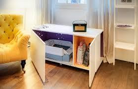 image of modern cat litter box furniture arena kitty litter box