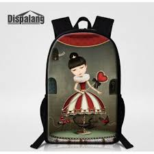 stylish s bags bookbag cartoon princess printing female backpack for middle mochilas feminina oxford kids rugtas back pack free