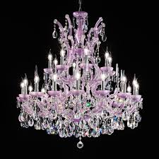 large hand crafted italian lilac crystal chandelier
