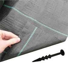 FREE PEGS + 1m x 50m Woven Weed Control FABRIC Ground Mulch Landscape 40  Pegs: Amazon.co.uk: Garden & Outdoors