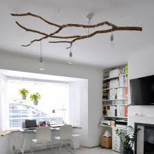 Innovative Ideas Tree Branch Light Fixture Interesting 30 Creative DIY For  Rustic Tree Branch Chandeliers