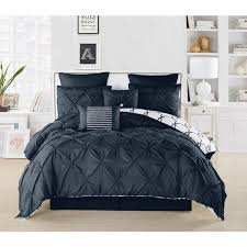piece navy queen comforter set esy