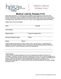 Fillable Online Georgiahosa Medical Liability Release Form Medical ...