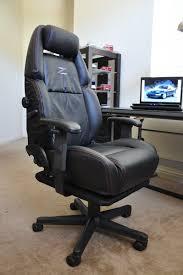 custom office chair. Nissan 300zx Custom Leather Office Chair - Black