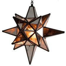star of bethlehem moravian star pendant antique mirror bronze frame 12x15