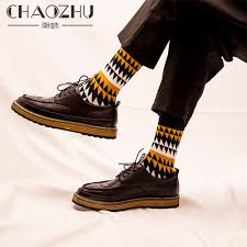 CHAOZHU Fashion <b>Men's Socks Autumn Winter Casual</b> Cotton ...