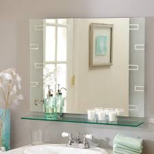 image of diy bathroom mirror frame ideas