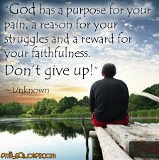 God Encouragement Quotes God has a purpose for your pain a reason for your struggles and a 35