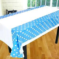 polka dot plastic tablecloth black with white