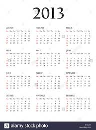 Calendar 2013 Template Calendar 2013 Template For Your Design Weeks Start On