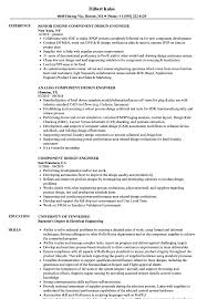Component Design Engineer Resume Samples Velvet Jobs