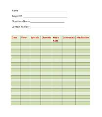 bp log 30 printable blood pressure log templates template lab