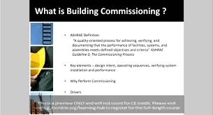 commissioning hvac systems lessons learned building commissioning youtube