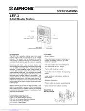 aiphone lef 3 manuals aiphone lef-3c at Aiphone Lef 3l Wiring Diagram