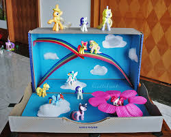Decorating A Shoe Box My Little Pony Magical World out of a Shoe Box Hattifant 62