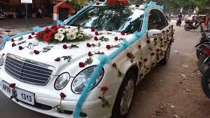 wedding car flowers decoration video