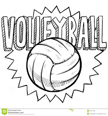 Volleyball Color Pages Volleyball Drawing With Color More Information