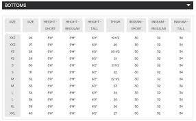 Emporio Armani Size Chart 14 Men U S Bottoms Armani Exchange Men U S Size Chart Www